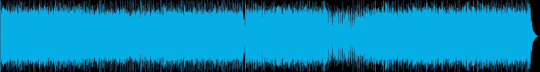 激しく疾走感のある重低音がきいたメタルの再生済みの波形