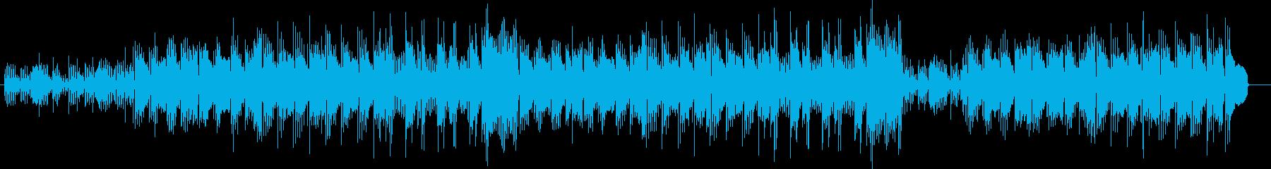 コミカルで懐かしいテクノポップ風BGMの再生済みの波形