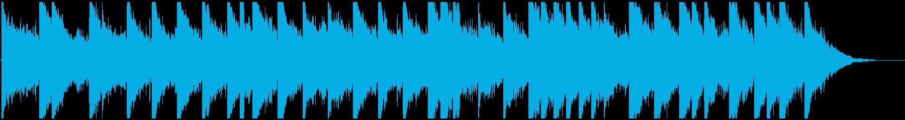 ほのぼのフォーク調BGMの再生済みの波形