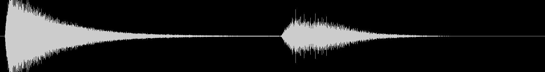 バリアを張るような効果音ですの未再生の波形
