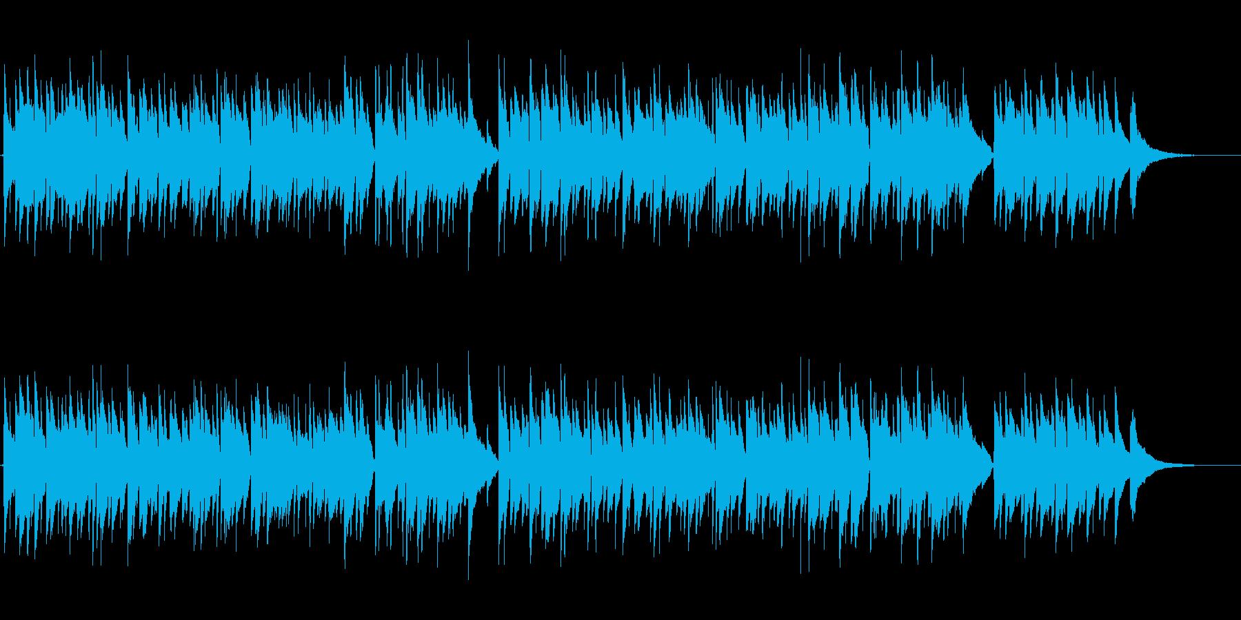 アコギ生演奏のゆったりとしたソロギター曲の再生済みの波形