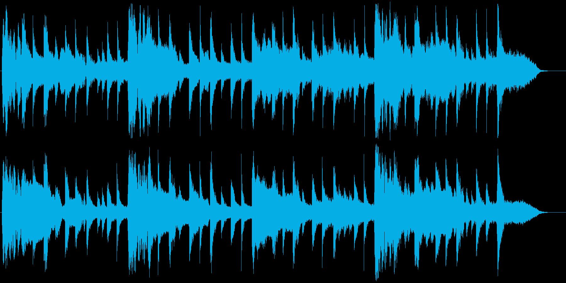 日本味の強い古典的な雰囲気のBGMの再生済みの波形