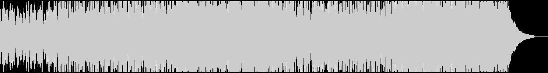 お洒落で軽快なロックBGM(Long)の未再生の波形