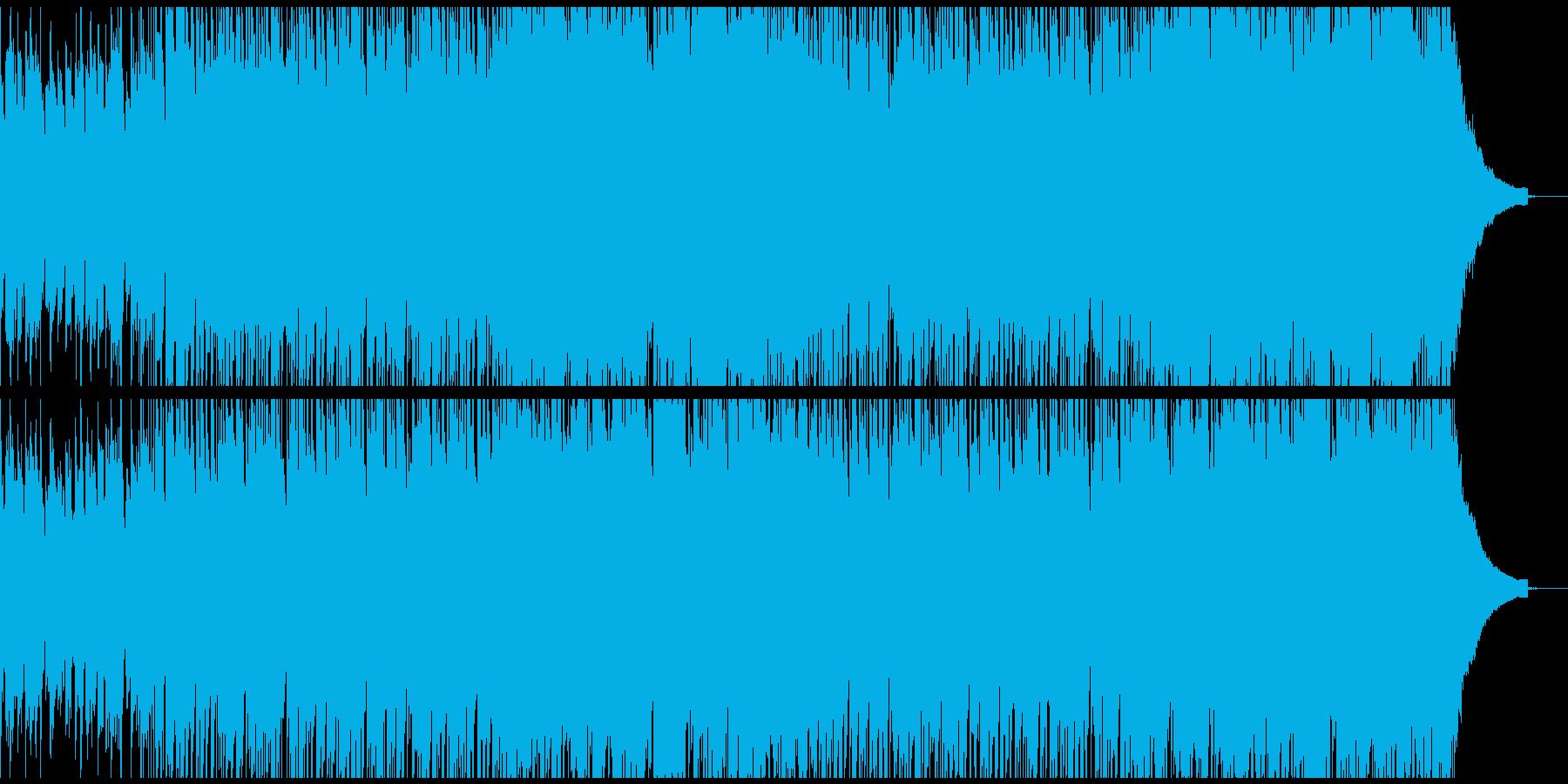 お洒落で軽快なロックBGM(Long)の再生済みの波形