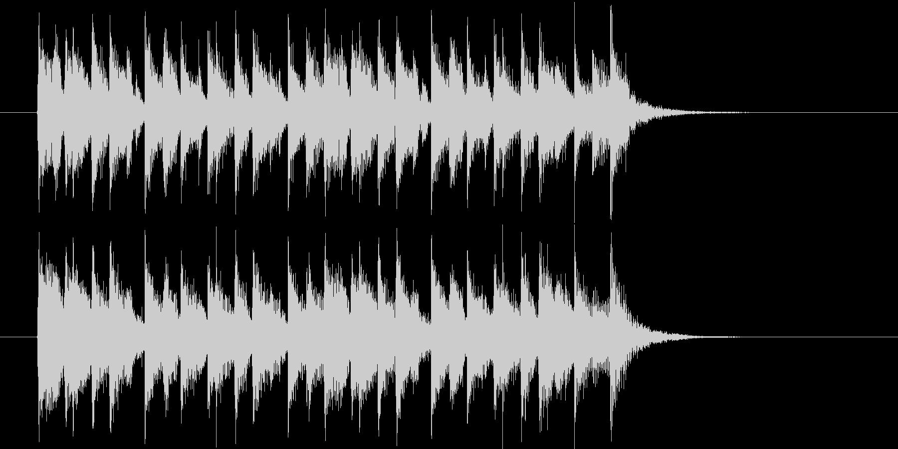軽快なリズムのポップスの未再生の波形
