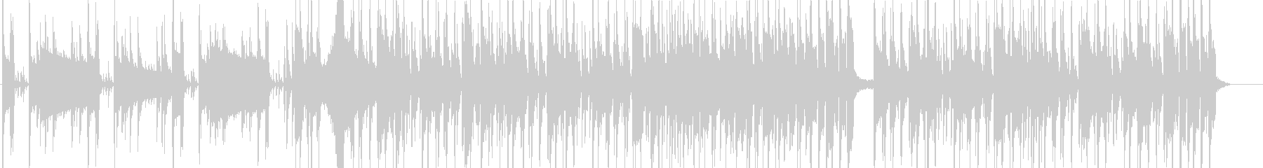 BassとDrの熱いセッションの未再生の波形
