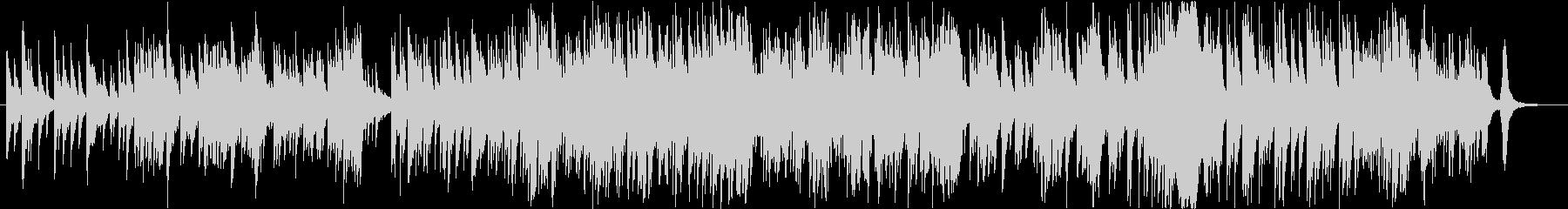 ガットギターとピアノのやさしいワルツの未再生の波形