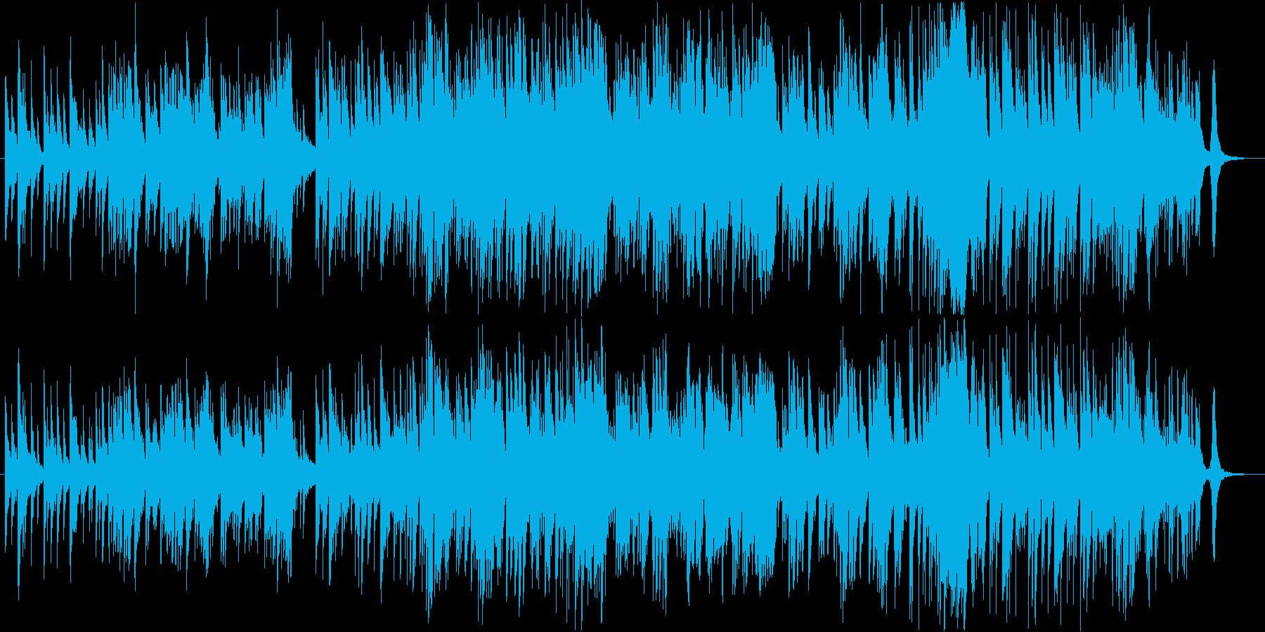 ガットギターとピアノのやさしいワルツの再生済みの波形