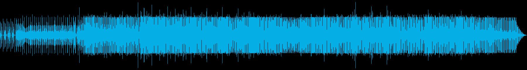 アナログドラムと民族的なリズム楽器の音の再生済みの波形