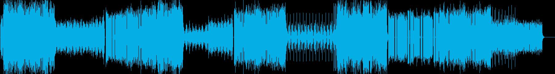 キラキラでフューチャーベース風なポップスの再生済みの波形