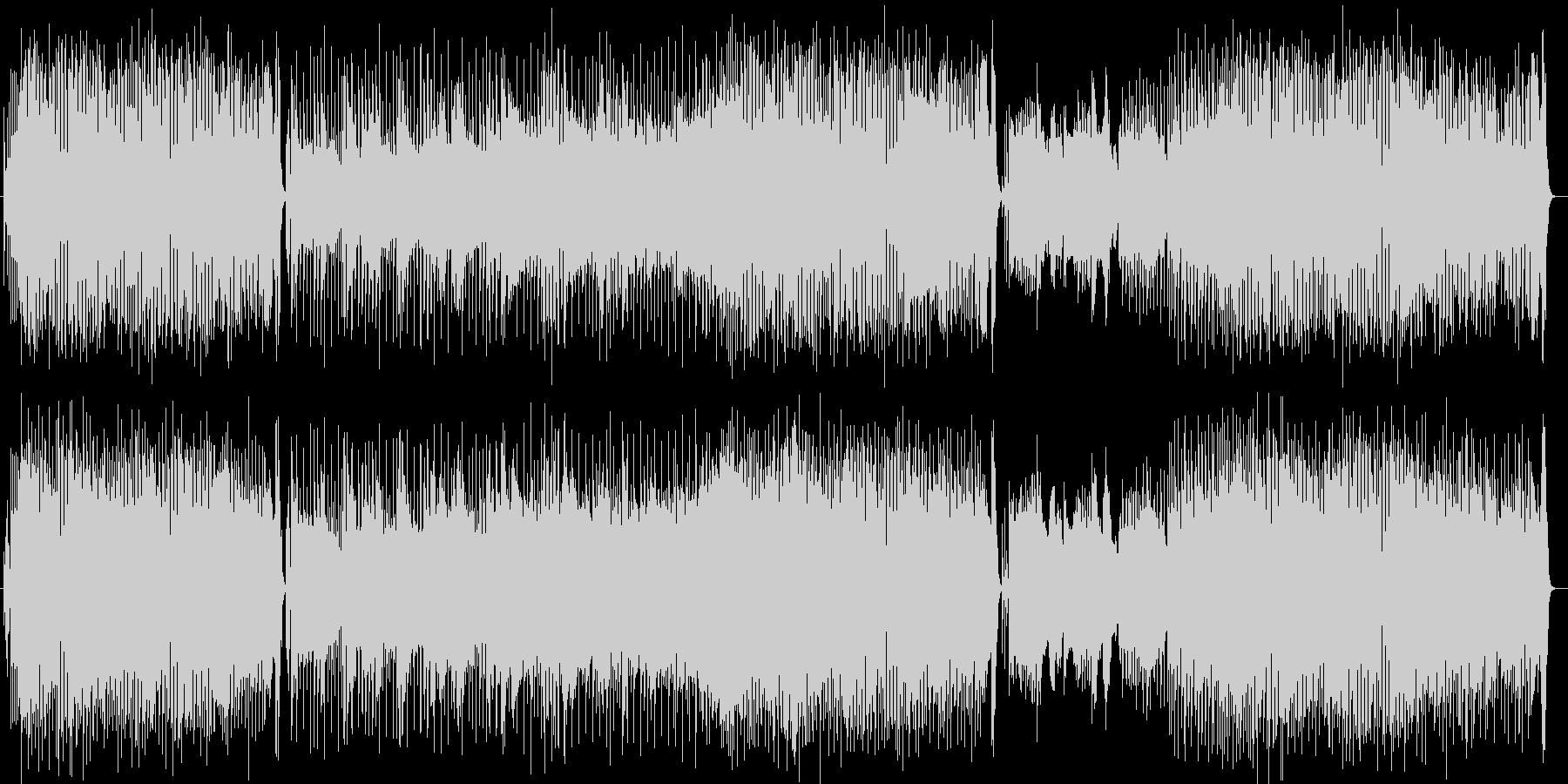 明るいノリのピアノポップスの未再生の波形