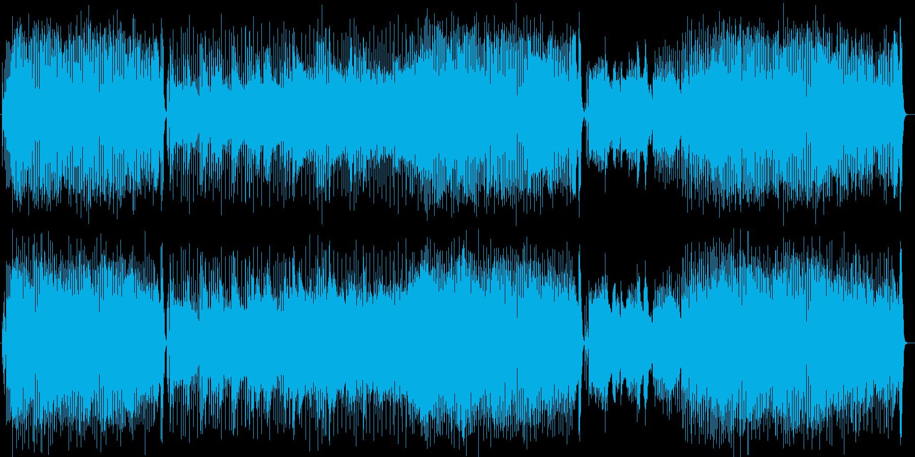 明るいノリのピアノポップスの再生済みの波形