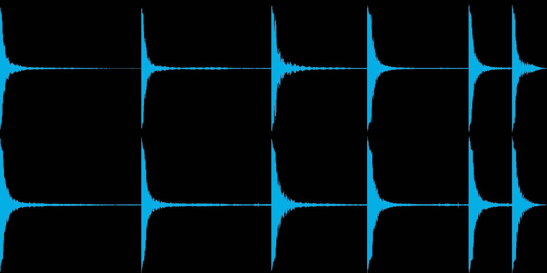 金属クランク共振の再生済みの波形