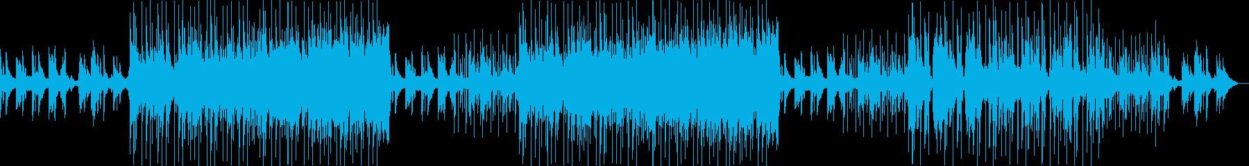 切ないピアノからはじまる和風トラックの再生済みの波形