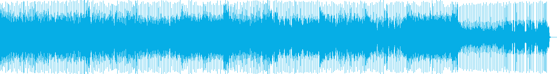 ウキウキするような雰囲気のテクノポップの再生済みの波形