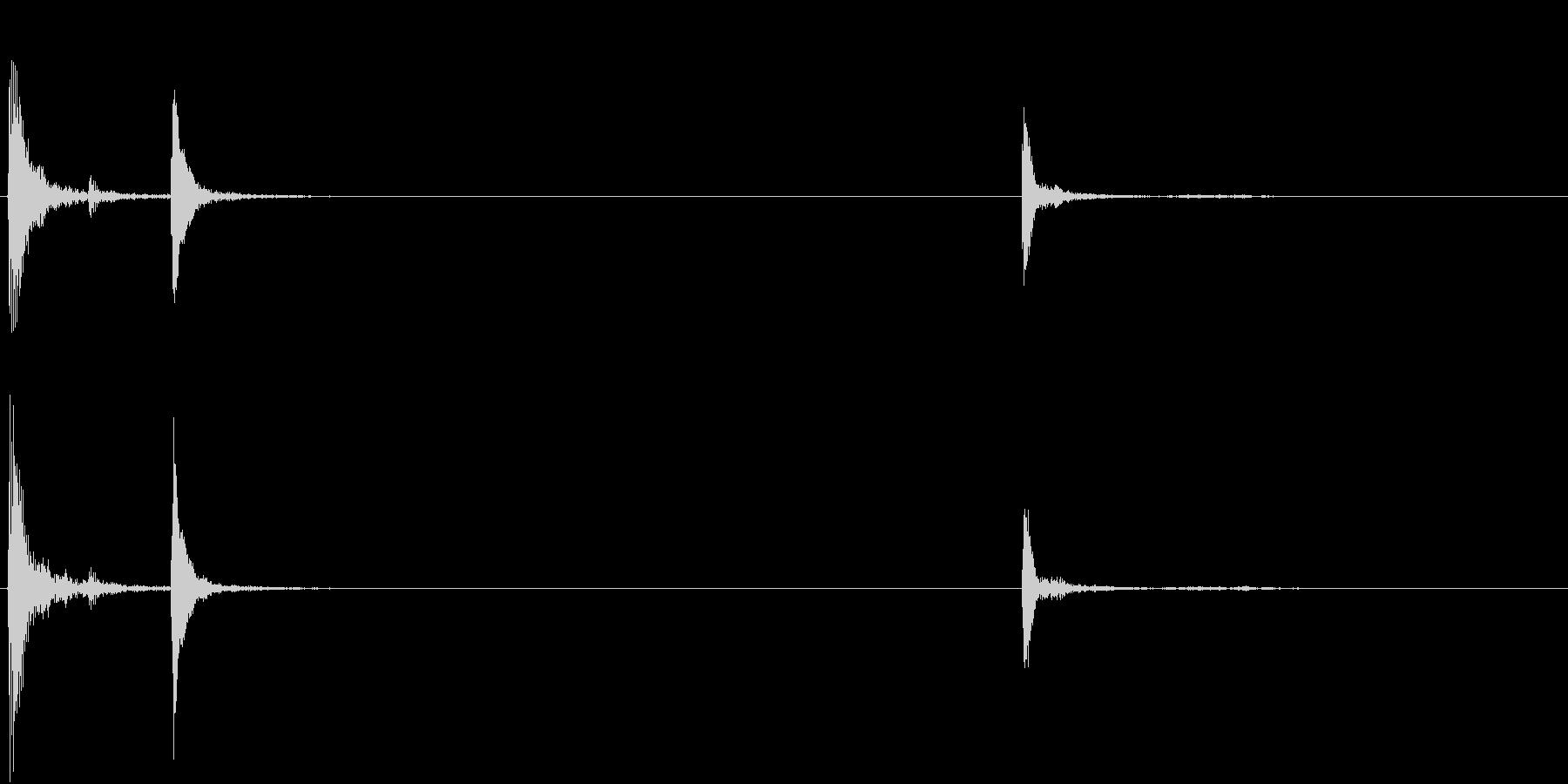 【生録音】お箸の音 7 箸を持つの未再生の波形