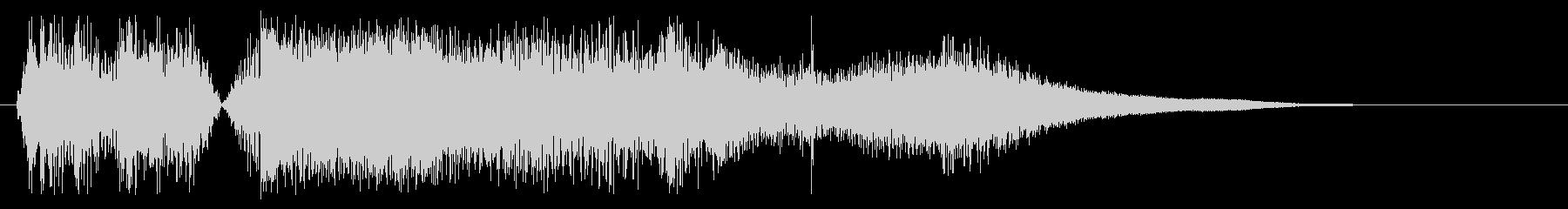 ガチャーン(金属を落とした時の音)の未再生の波形
