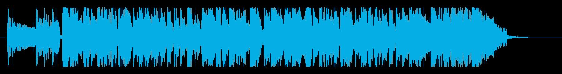 ファンキー&グルーヴィなベースのロゴの再生済みの波形