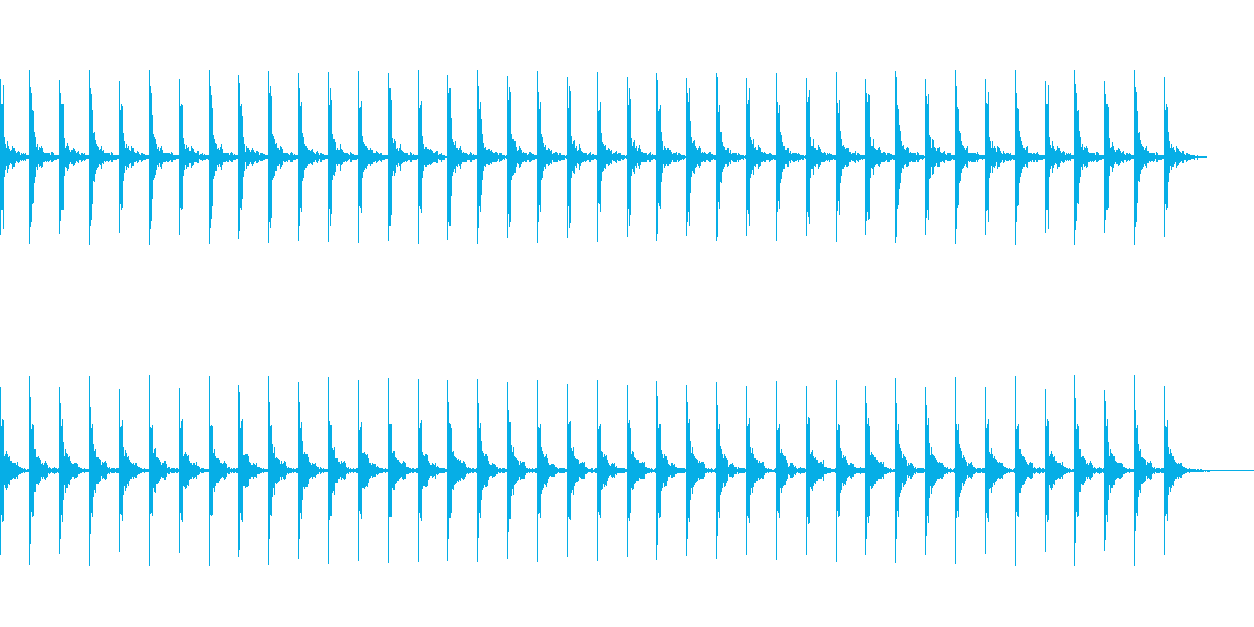 カウント40秒シンプル ピッピ の再生済みの波形