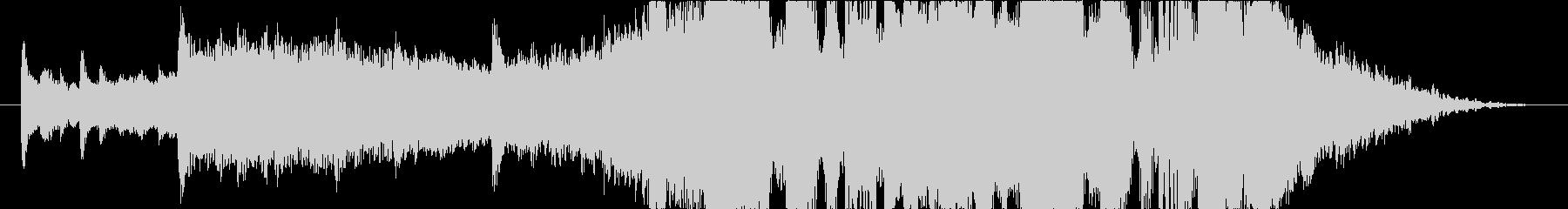 無機質でクールな15秒BGMの未再生の波形