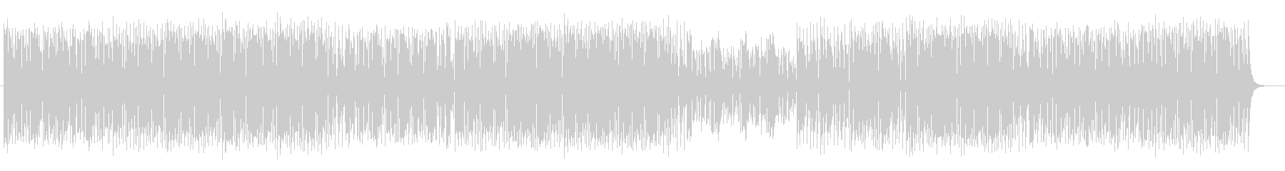 楽しくコミカルなシンセサイザーサウンドの未再生の波形