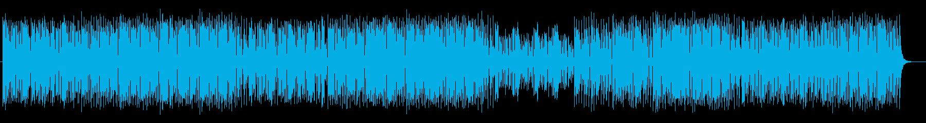 楽しくコミカルなシンセサイザーサウンドの再生済みの波形