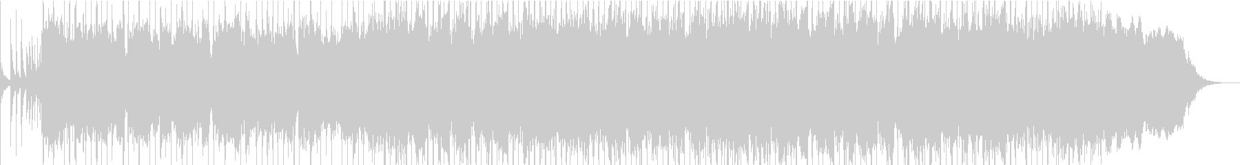勢いのあるパンクロックの曲の未再生の波形