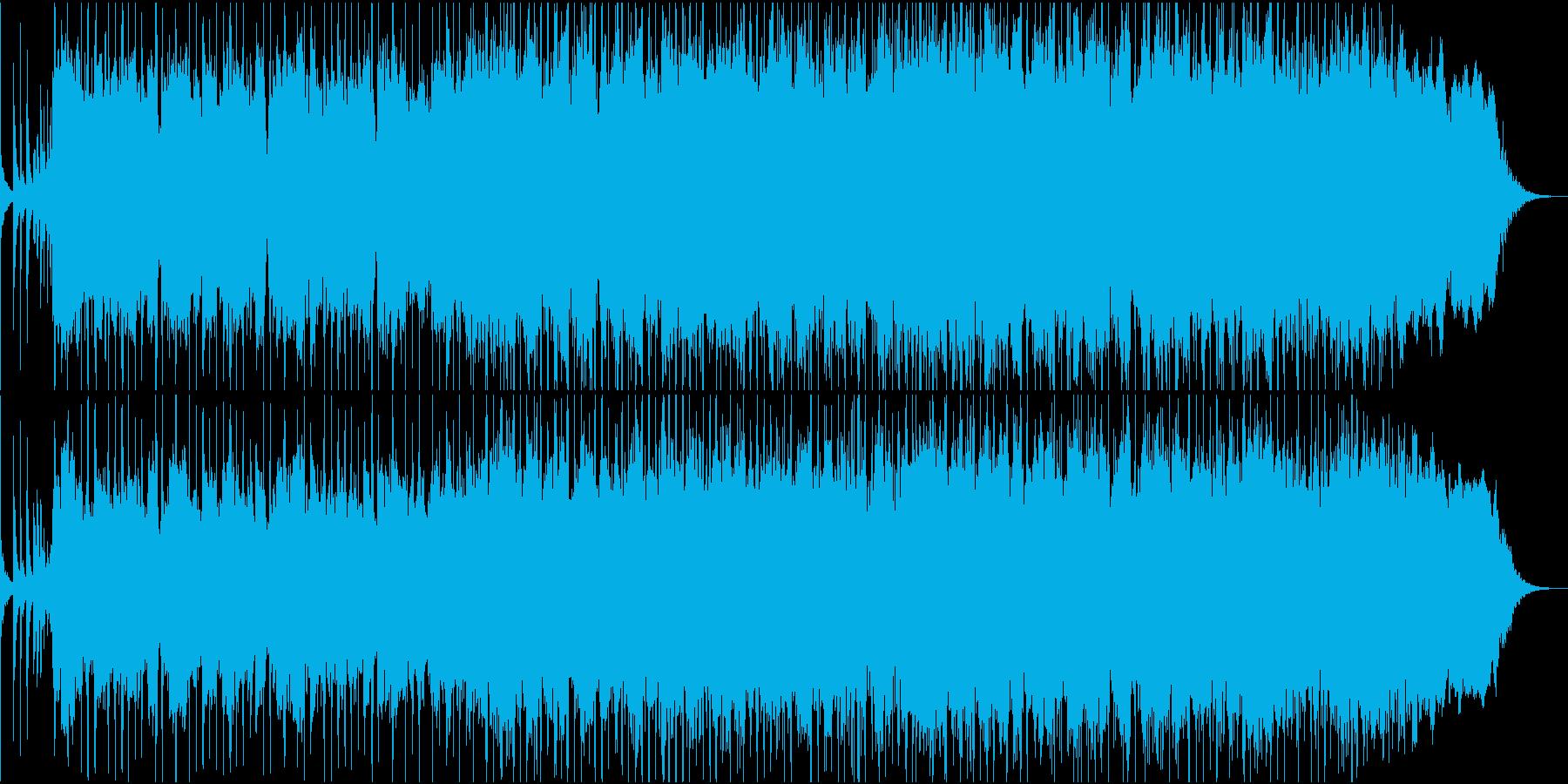 勢いのあるパンクロックの曲の再生済みの波形