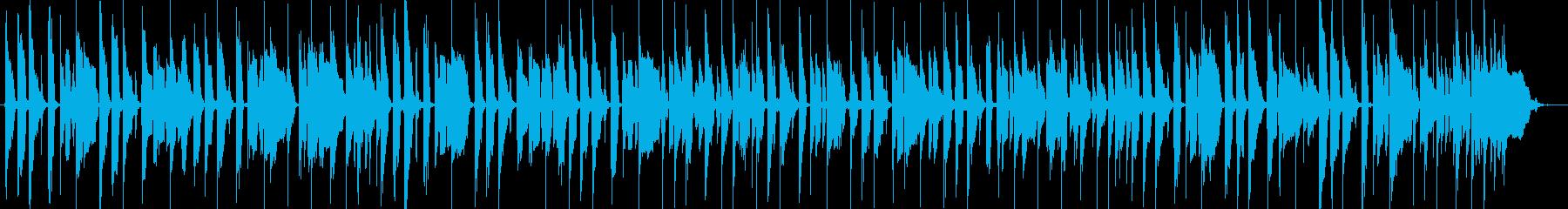 気持ちいいノリの低音16ビートの再生済みの波形