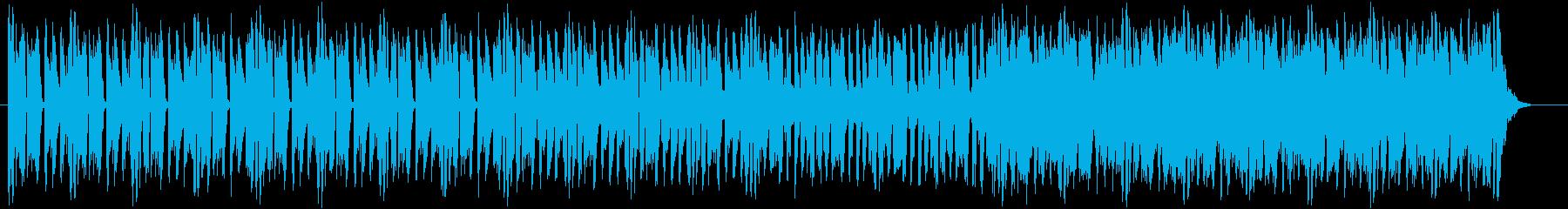 キレよく軽い音色のミュージックの再生済みの波形