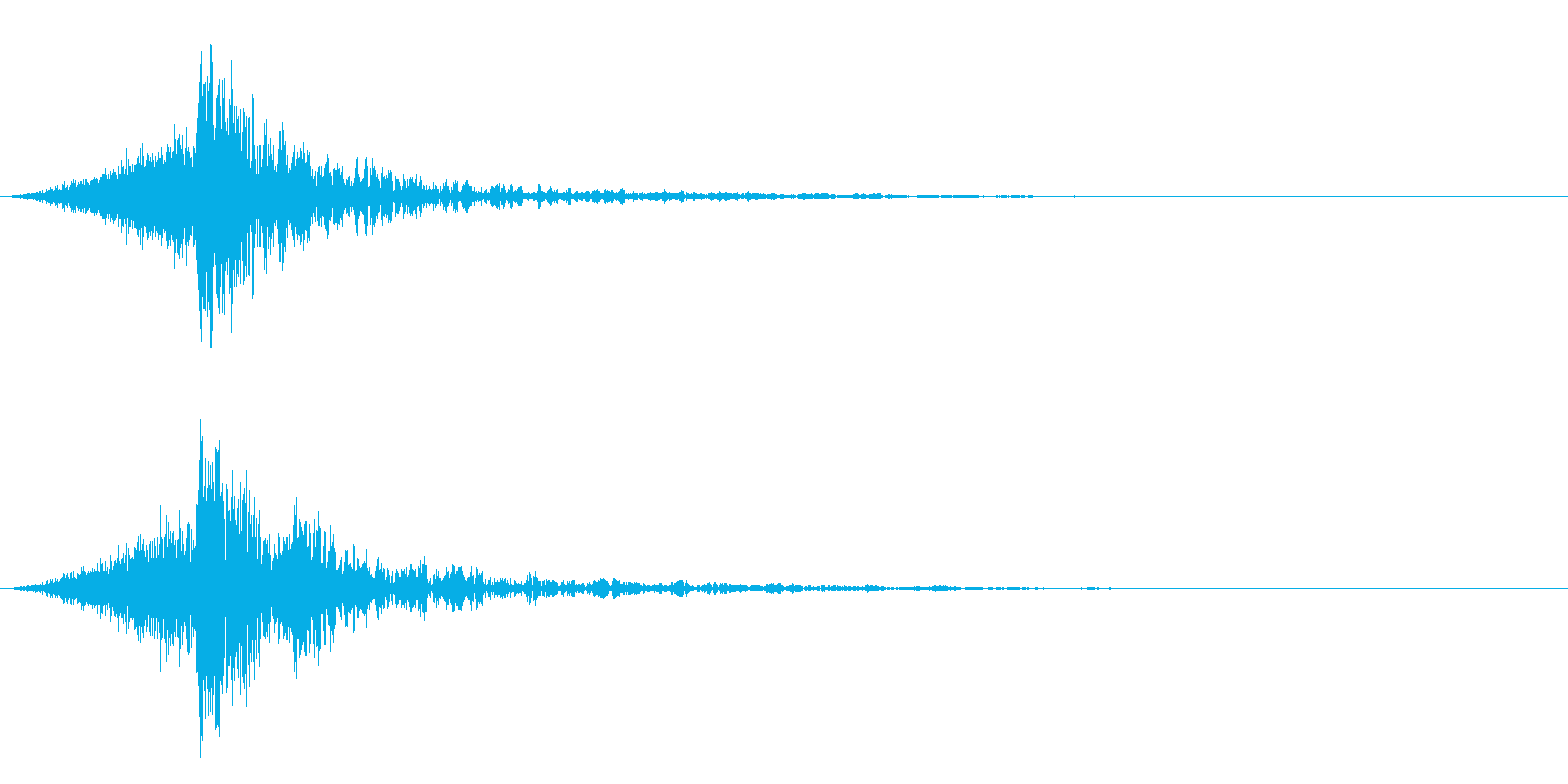 シュードーン-58-4(インパクト音)の再生済みの波形