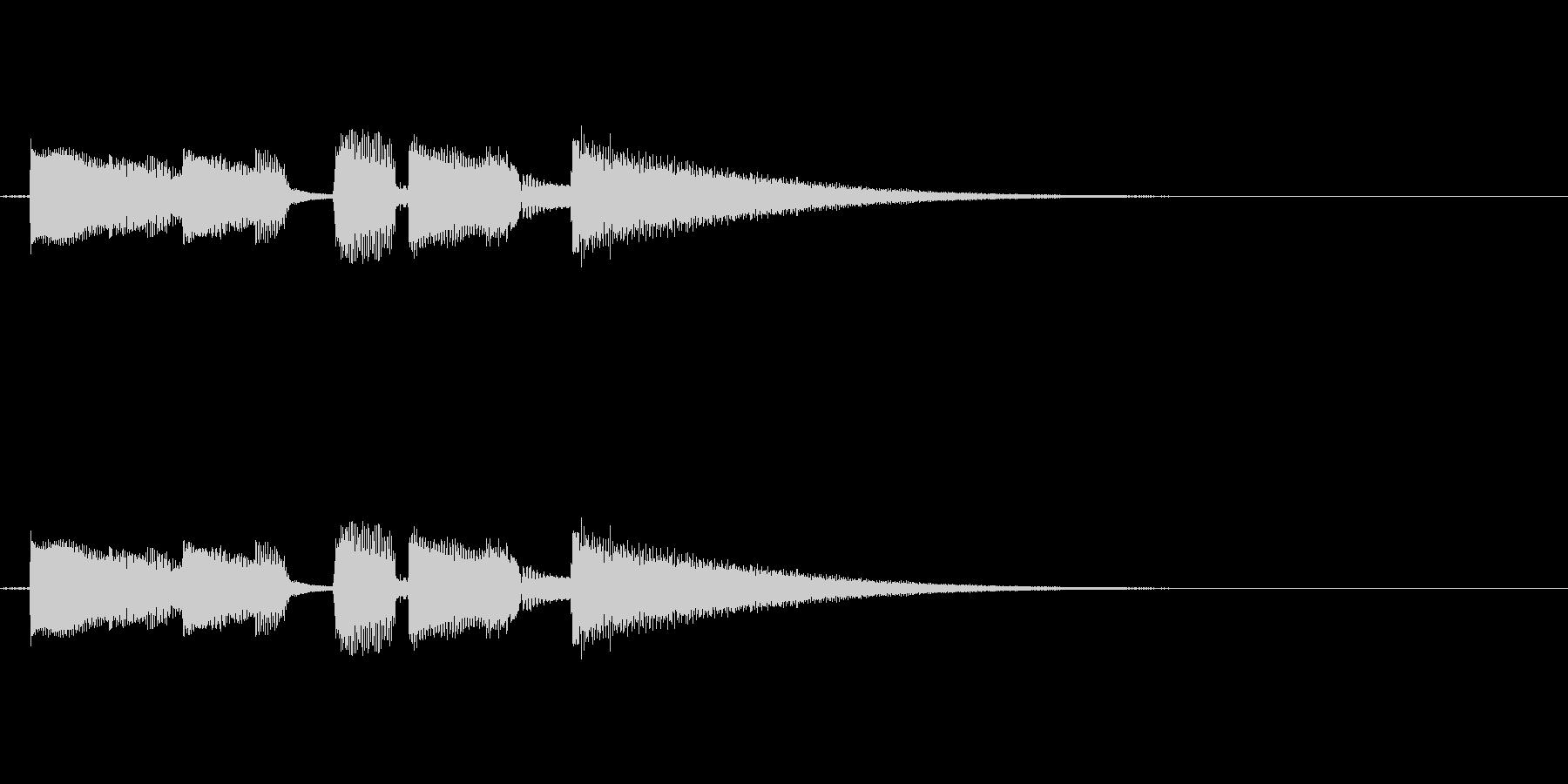 エンディングや場面転換用の短いジングルの未再生の波形