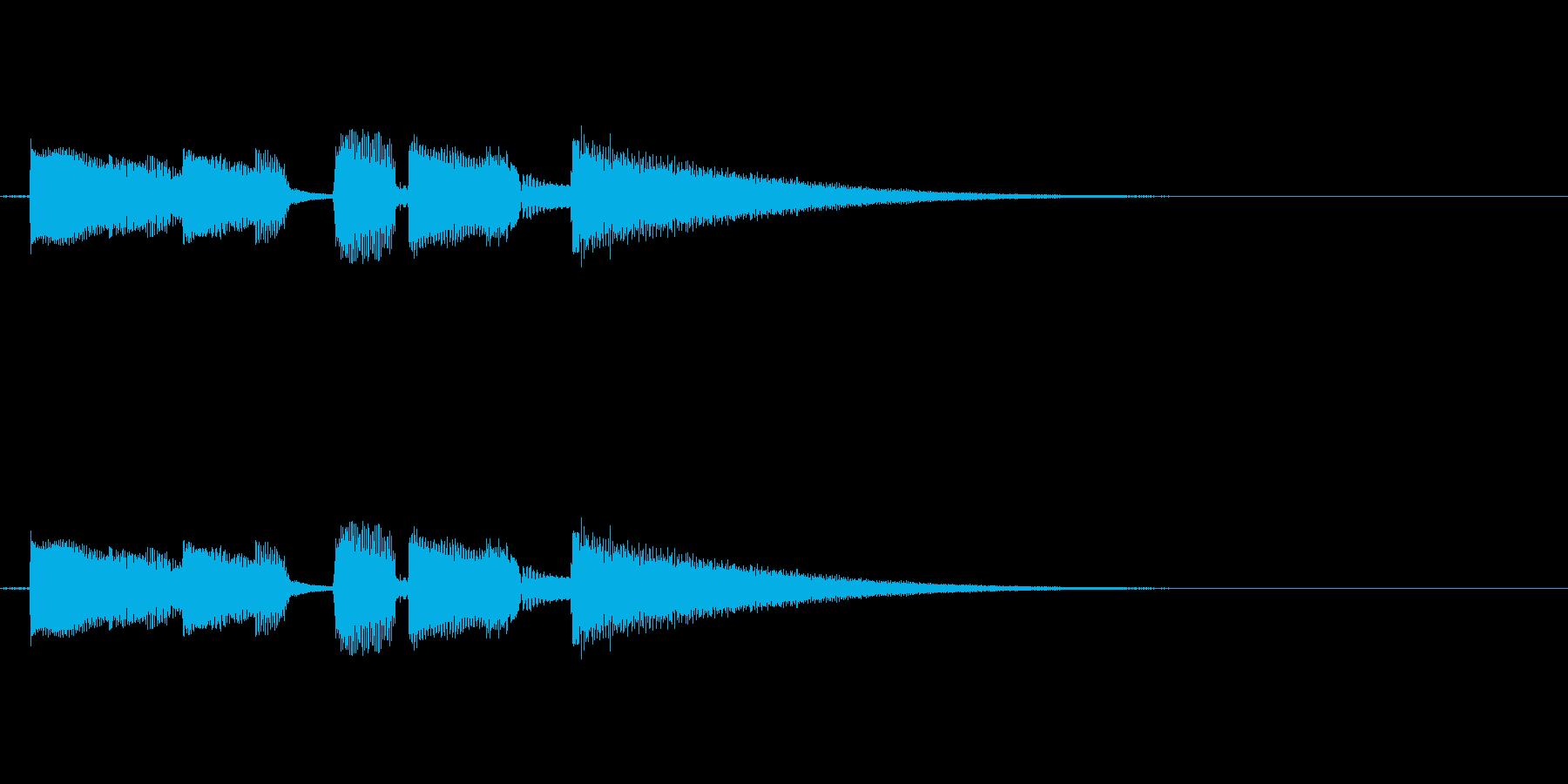 エンディングや場面転換用の短いジングルの再生済みの波形