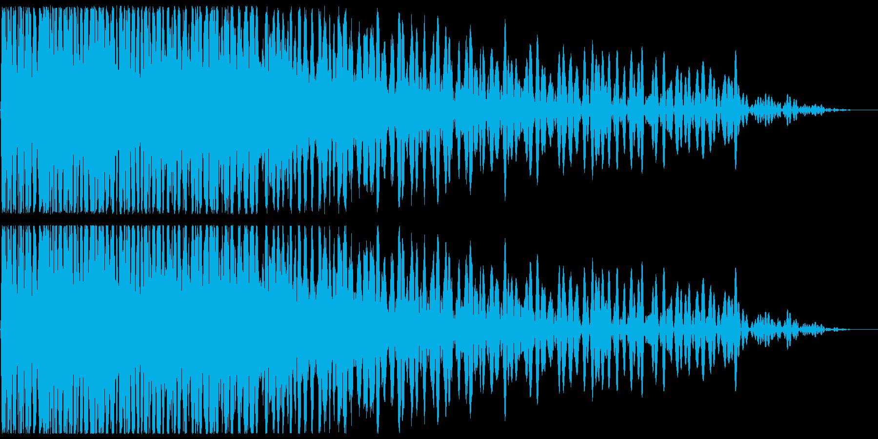 ドカーン(爆発音、被弾)の再生済みの波形
