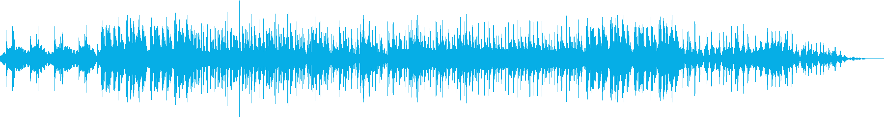 憂いのラテン風BGMの再生済みの波形