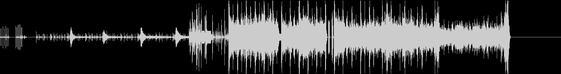 デジタルで機械的な曲の未再生の波形