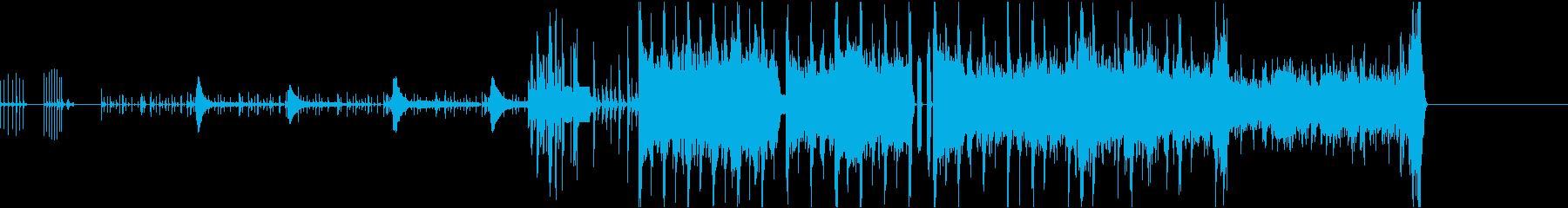 デジタルで機械的な曲の再生済みの波形