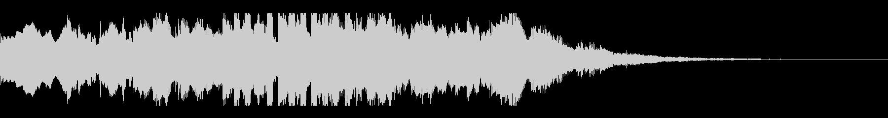 ゆったりしたアテンション音の未再生の波形