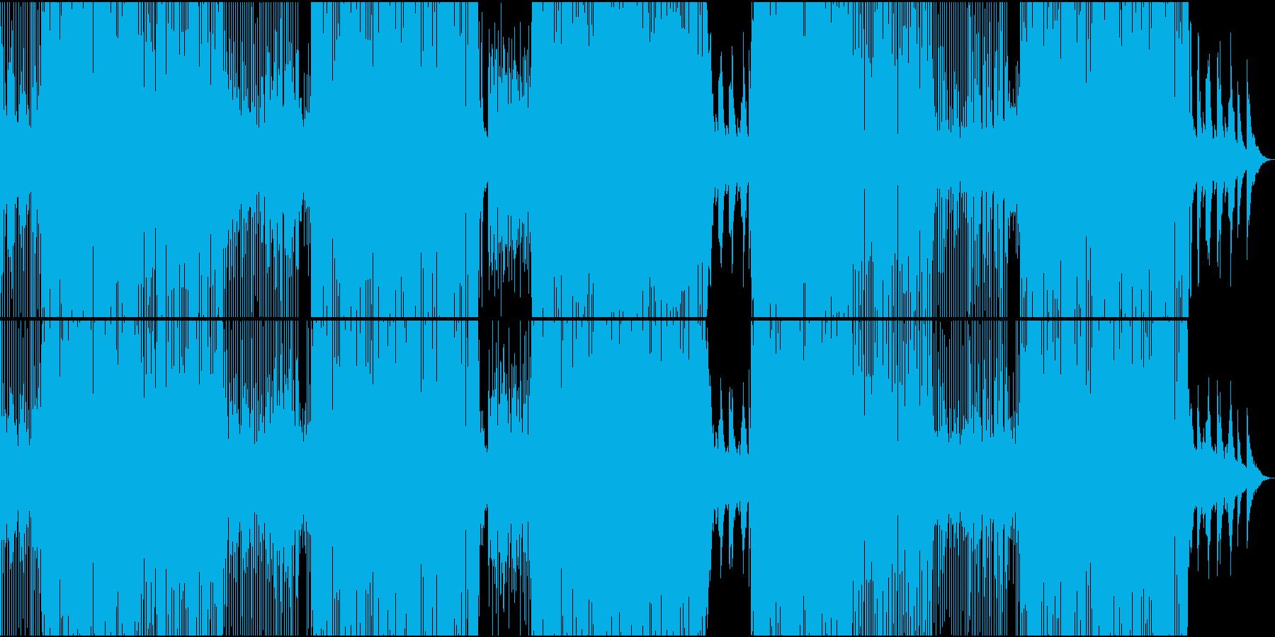 ラテン色が強い情熱のレガトン系EDMの再生済みの波形