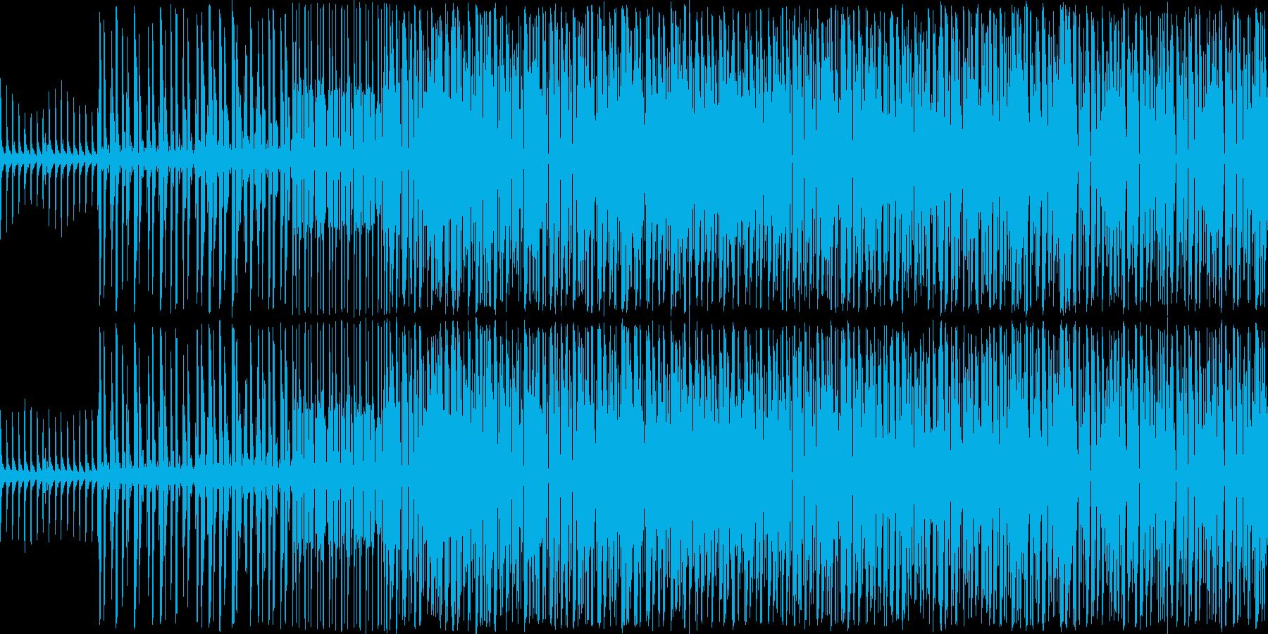 ちょっと激しめのテクノです。アクション…の再生済みの波形