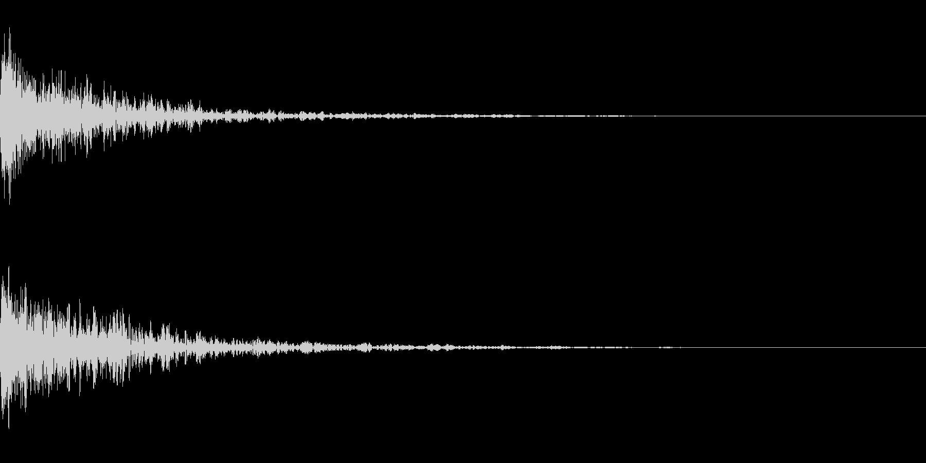 ドーン-29-1(インパクト音)の未再生の波形