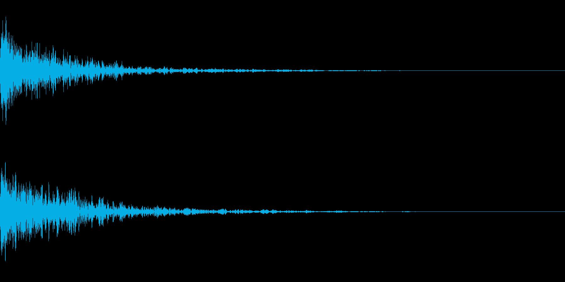 ドーン-29-1(インパクト音)の再生済みの波形