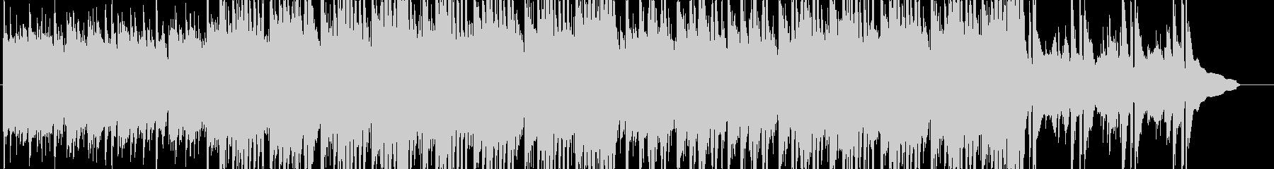 三拍子の軽快でわくわくする楽曲の未再生の波形