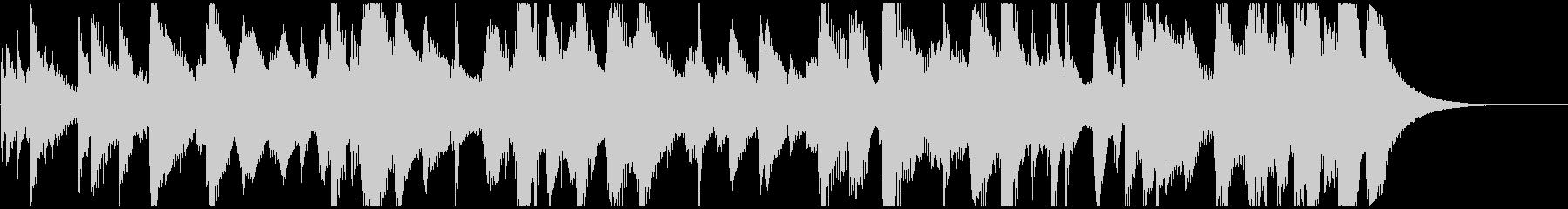 スチールドラムとギターのゆったりレゲエの未再生の波形