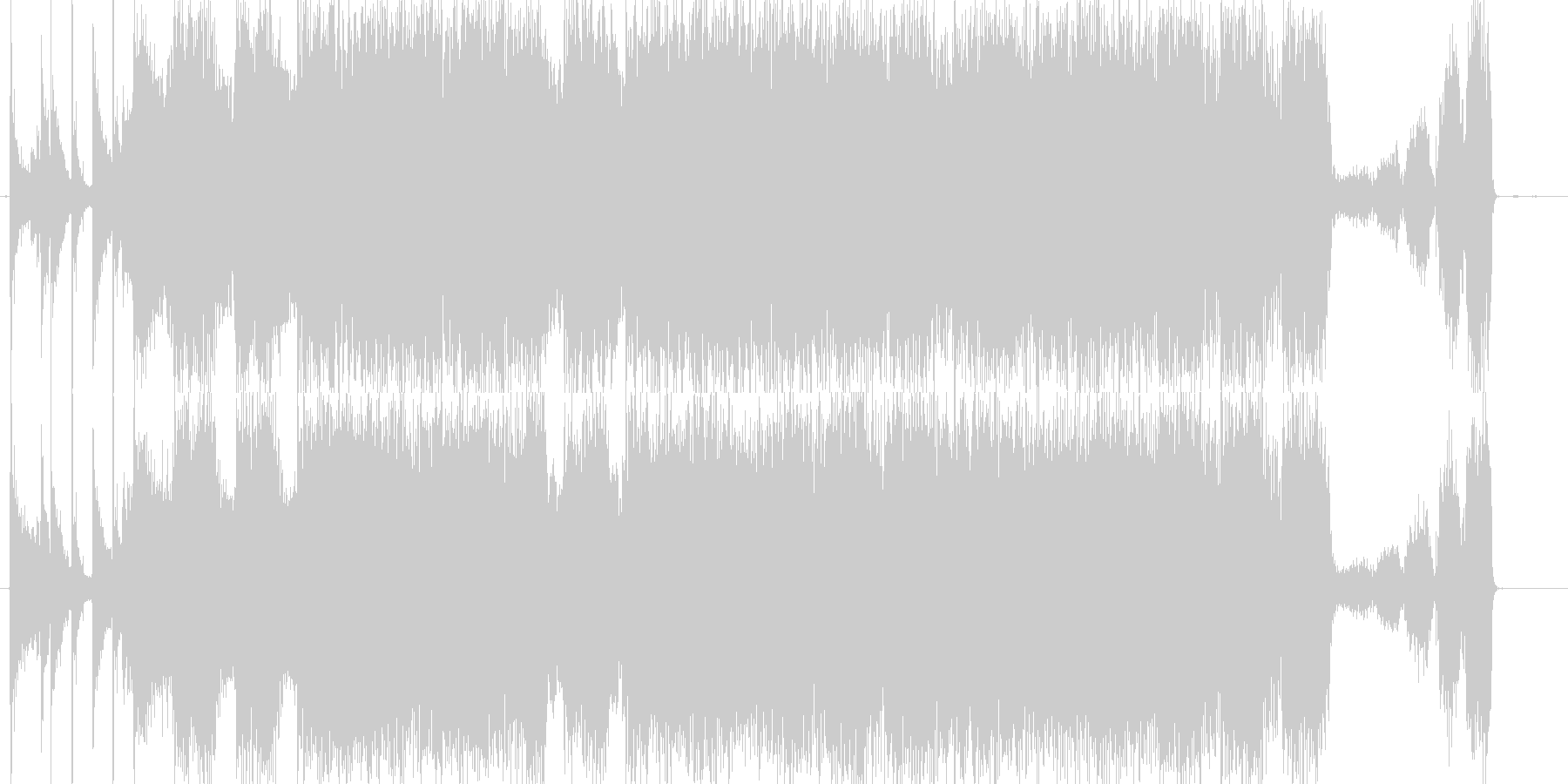 どこか懐かしいハードロックバンドサウンドの未再生の波形