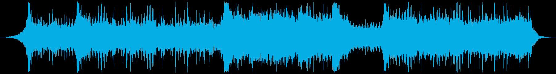 電子音楽×和風なヒーリング曲の再生済みの波形