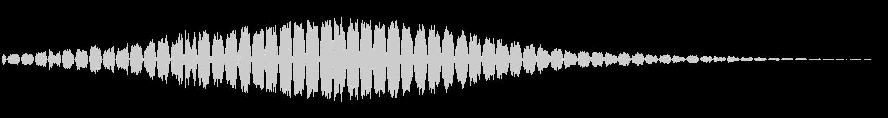 高音で機械的な通過音の未再生の波形