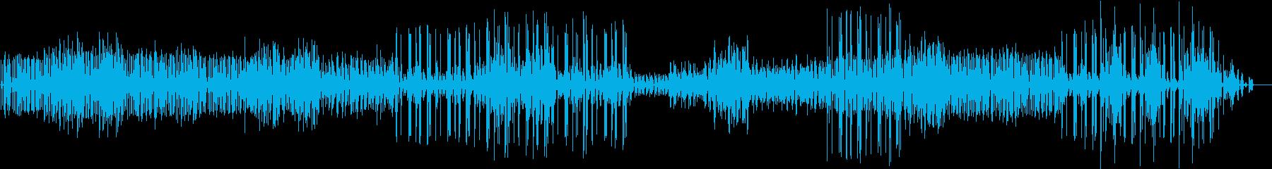Synでのスローで幾何学的なトランス風Mの再生済みの波形