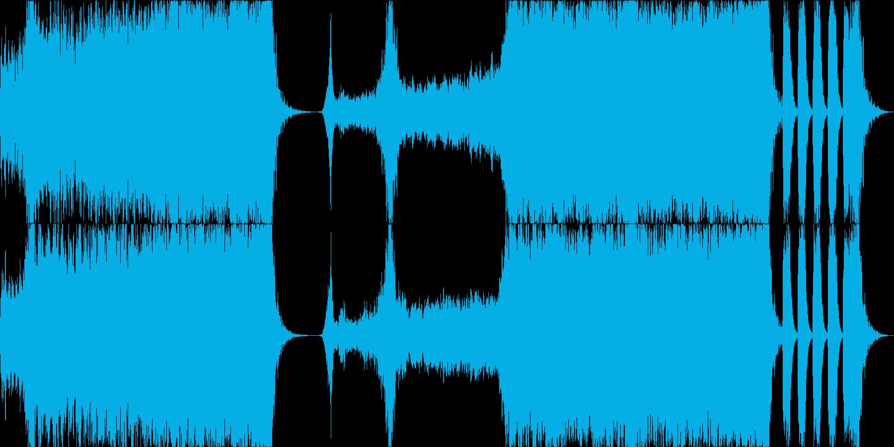 重いエピックオーケストラと直感 タムなしの再生済みの波形