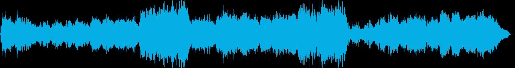 優しいイメージのヒーリング曲の再生済みの波形